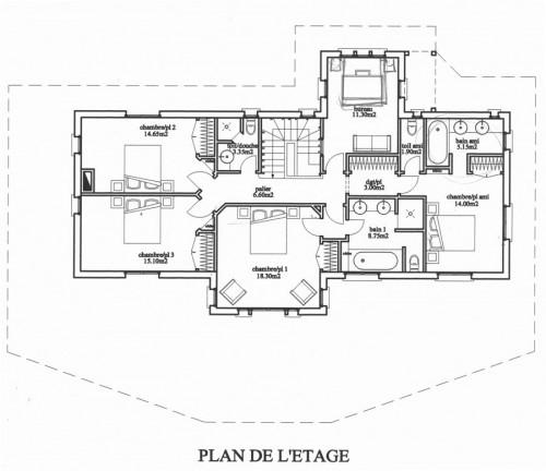 D coration architecture en normandie for Plan chambre a coucher avec dressing et salle de bain