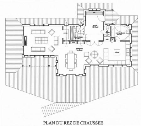 Plan de maison en bois Darblay and Wood rez-de-chaussée