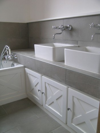 Salle de bains maison en bois Darblay and Wood