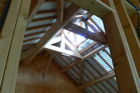Puits de lumière maison en bois en Normandie Darblay and Wood