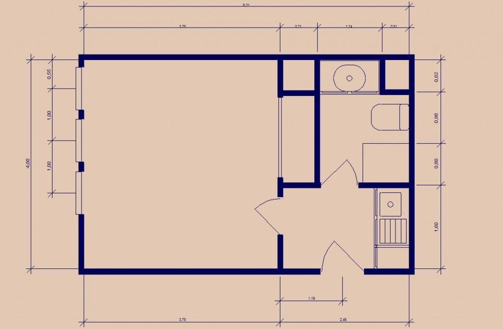 Plan Studio Trouville Avant