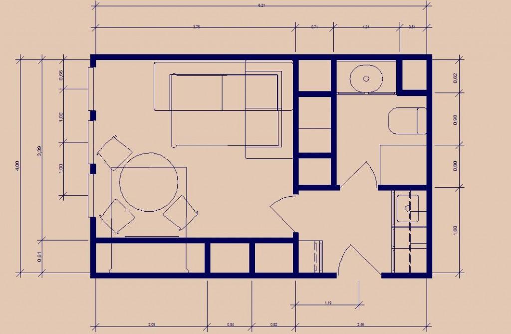 Plan Studio Trouville Après