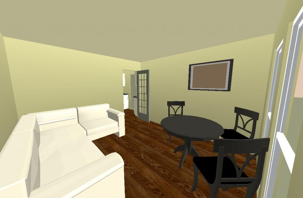 Plan Studio Trouville 3D Vue Baie