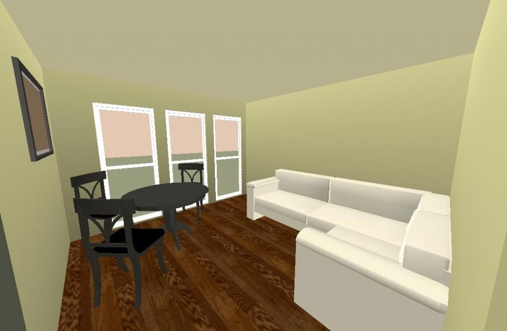 Plan Trouville 3D Vue Salon